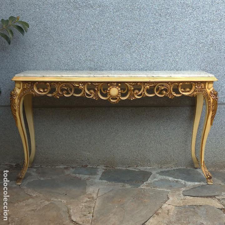 Antigüedades: Consola y espejo estilo barroco Luis XV - Foto 2 - 150766738
