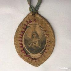 Antiquitäten - ESCAPULARIO. Dulce Corazón de María, rogad por nosotros. (h.1880?) - 150777916