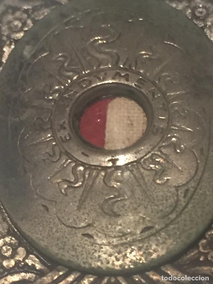 Antigüedades: Relicario santa jeanne de lestonnac contiene tela de la anterior indumentaria 4.5x2.5cm - Foto 3 - 150831265