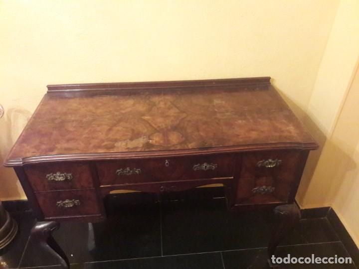 Antigüedades: mesa de despacho o de tocador - Foto 3 - 150844046