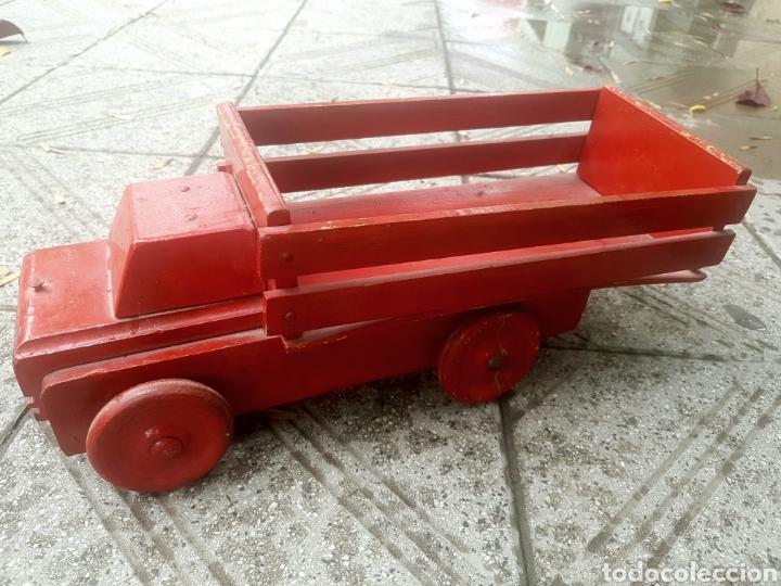 Antigüedades: Antiguo camion de juguete fundación Eva Perón - Foto 3 - 150850017
