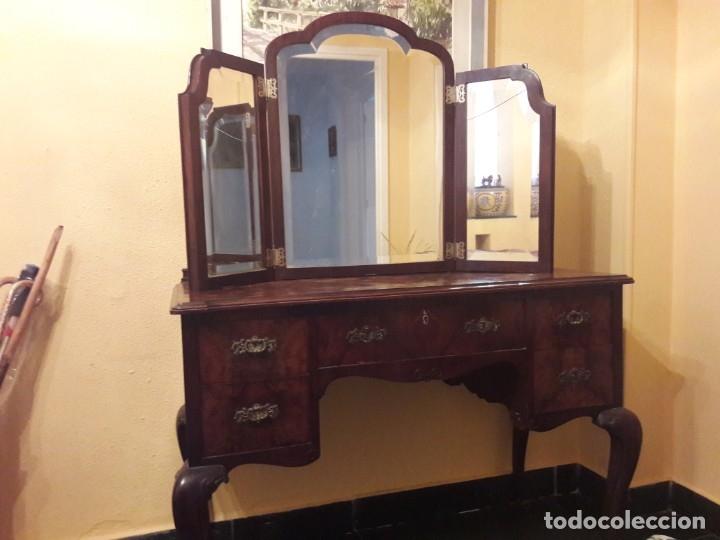 Antigüedades: mesa de despacho o de tocador - Foto 4 - 150844046
