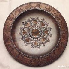Antigüedades: PRECIOSO PLATO TALLA EN MADERA 22CM. Lote 150942698