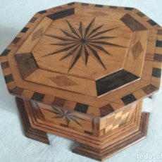 Antigüedades: PRECIOSA CAJA DE MARQUETERÍA. Lote 150957322