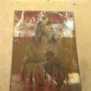 Antigüedades: PLACA METÁLICA PARA PUERTA SAGRADO CORAZÓN - REINARE EN ESPAÑA -. Lote 150960992