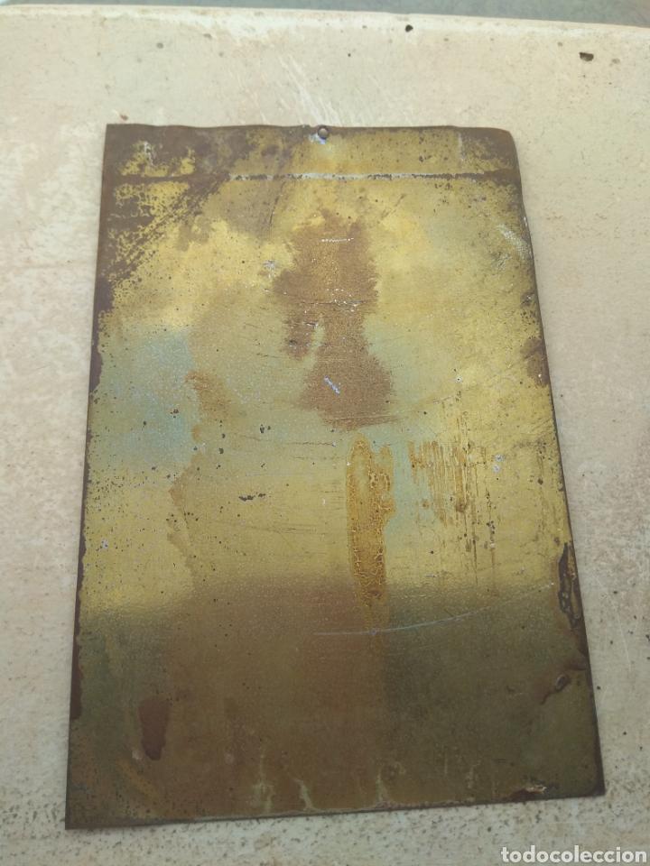 Antigüedades: Placa Metálica para Puerta Sagrado Corazón - Reinare en España - - Foto 3 - 150960992