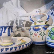 Antigüedades: CONJUNTO DE CERAMICA PINTADA A MANO CHC PTE. Lote 150965862