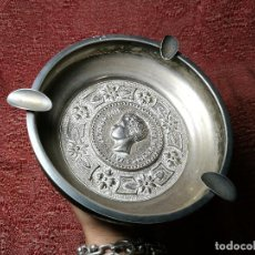 Antigüedades: CENICERO. METAL PLATEADO. MONEDA ALFONSO XIII. ESPAÑA. SIGLO XX. GRAN CALIDAD REF-1AC. Lote 150971566