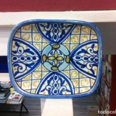 Antigüedades: BANDEJA DE PORCELANA ESMALTADA. MEDIDAS: 20 X 17 X 3,5CM. Lote 150982690