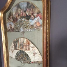 Antigüedades: VITRINA PARA 3 ABANICOS, 120X60CMS APROX.. Lote 151004414
