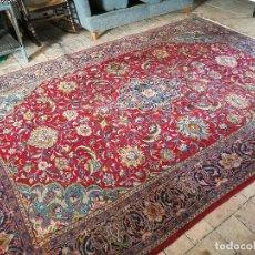 Antigüedades: GRAN ALFOMBRA PERSA KASHAN. LANA ANUDADA A MANO. IRAN. CIRCA 1930-50 -REF-1AC. Lote 151005162