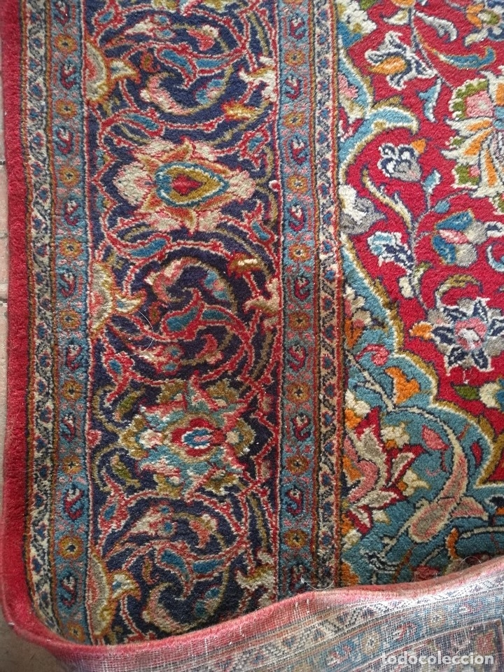 Antigüedades: GRAN ALFOMBRA PERSA KASHAN. LANA ANUDADA A MANO. IRAN. CIRCA 1930-50 -REF-1AC - Foto 23 - 151005162