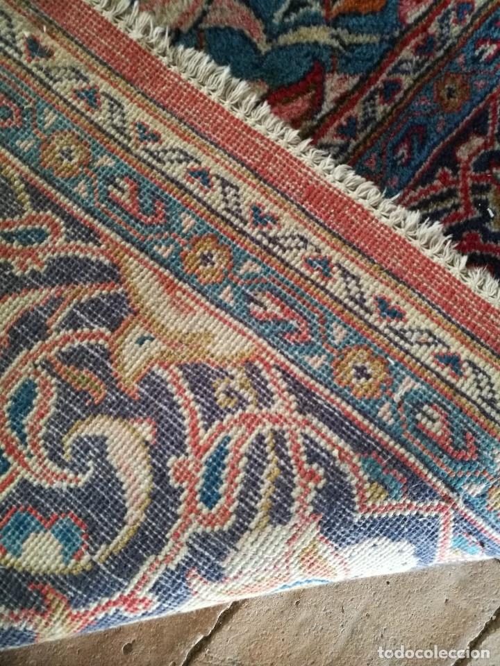 Antigüedades: GRAN ALFOMBRA PERSA KASHAN. LANA ANUDADA A MANO. IRAN. CIRCA 1930-50 -REF-1AC - Foto 24 - 151005162