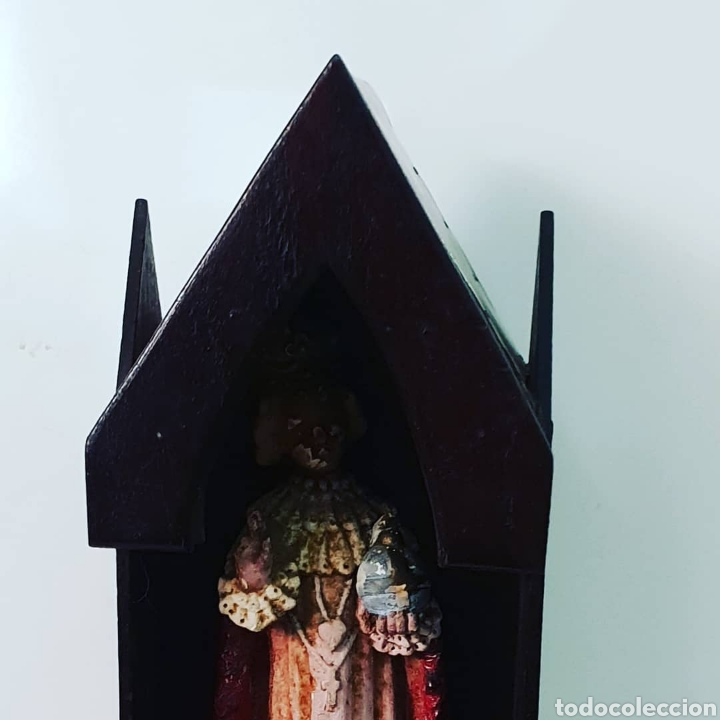 CAPILLA ARTESANA CON SANTO (Antigüedades - Religiosas - Varios)