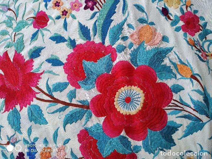 Antigüedades: Mantón de tulipanes - Foto 2 - 174577369