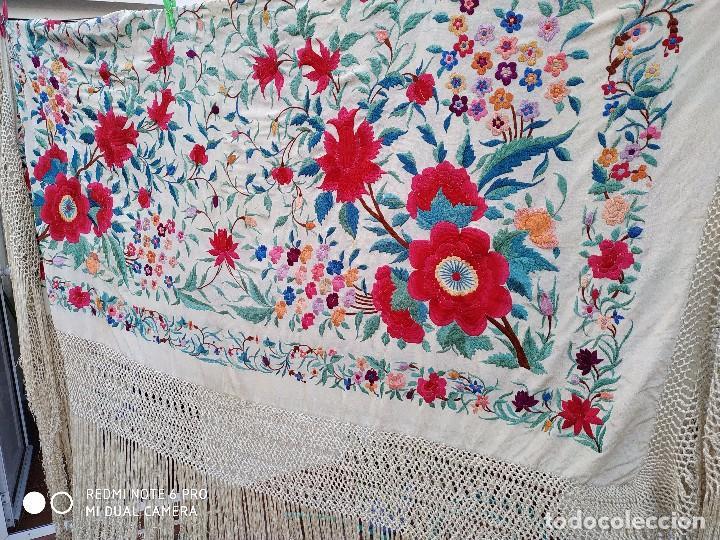 Antigüedades: Mantón de tulipanes - Foto 3 - 174577369