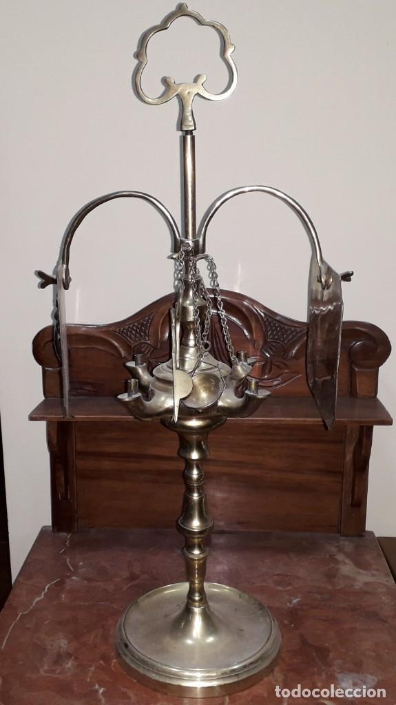 Antigüedades: Lámpara de aceite - Foto 2 - 151027230
