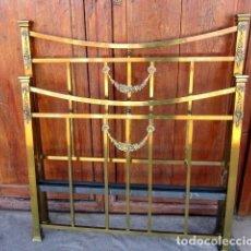 Antigüedades: CAMA COMPLETA ANTIGUA DE LATON Y BRONCE . Lote 151071142