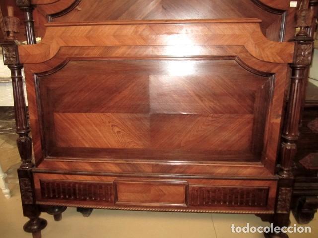 Antigüedades: Cama antigua de 120 en madera de palosanto - Foto 2 - 151071418