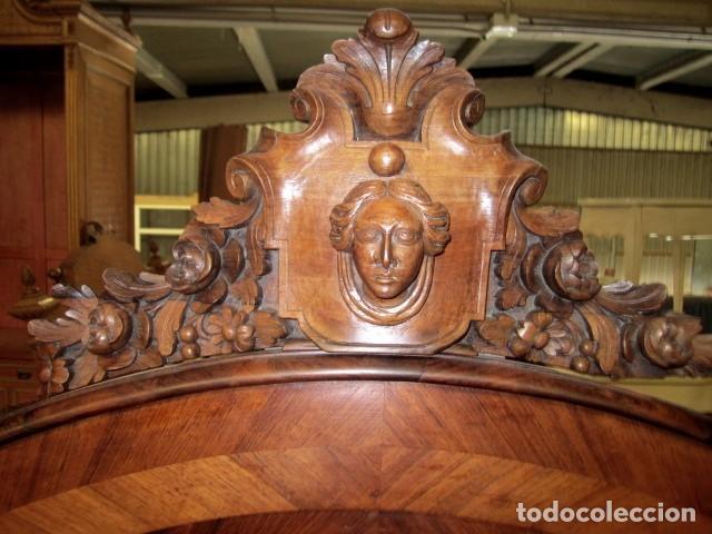 Antigüedades: Cama antigua de 120 en madera de palosanto - Foto 4 - 151071418