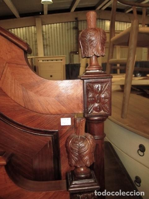 Antigüedades: Cama antigua de 120 en madera de palosanto - Foto 5 - 151071418