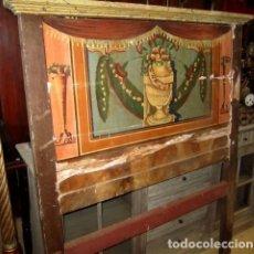 Antigüedades: CABECERO ANTIGUO POLICROMADO SIGLO XVIII. Lote 151072798