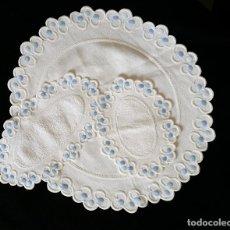 Antigüedades: JUEGO TAPETES DE TOCADOR - MODERNISTAS. Lote 151074110