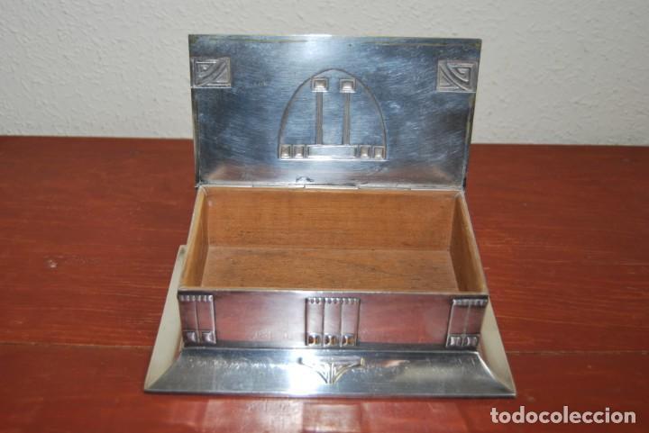 Antigüedades: CAJA DE METAL ART NOUVEAU - WMF - LATÓN BAÑO DE PLATA - TABAQUERA - CIGARRERA - JUGENDSTIL - C.1900 - Foto 20 - 151074974