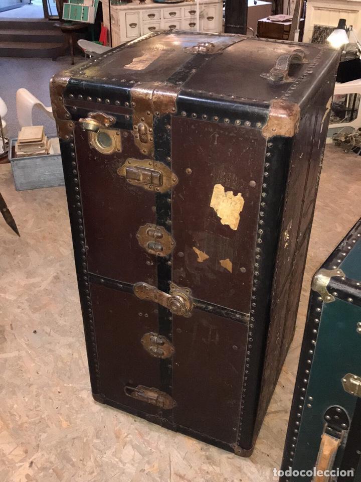 Antigüedades: Baúl de viaje antiguo vintage - Foto 3 - 151075314