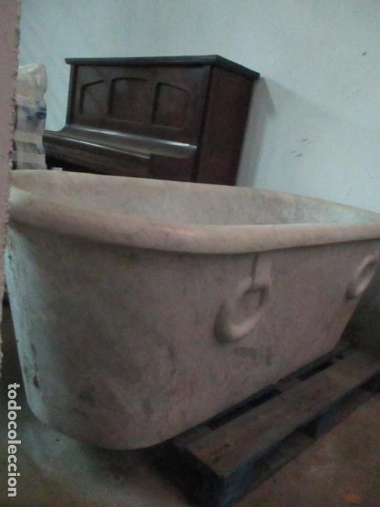 Antigüedades: Antigua Bañera de Mármol - Bañera de una Pieza de Mármol Tallado - con Grifería Original - S. XIX - Foto 7 - 151080794