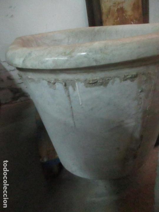 Antigüedades: Antigua Bañera de Mármol - Bañera de una Pieza de Mármol Tallado - con Grifería Original - S. XIX - Foto 16 - 151080794
