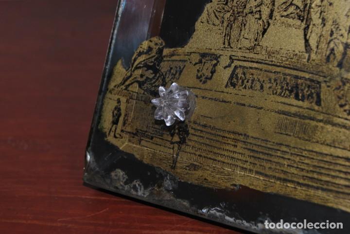 Antigüedades: PRECIOSO ESPEJO MODERNISTA DE SOBREMESA - MONUMENTO A COLÓN BARCELONA - EXPOSICIÓN UNIVERSAL 1888 - Foto 9 - 151080882