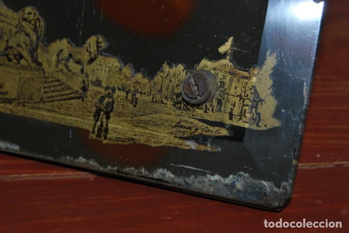 Antigüedades: PRECIOSO ESPEJO MODERNISTA DE SOBREMESA - MONUMENTO A COLÓN BARCELONA - EXPOSICIÓN UNIVERSAL 1888 - Foto 10 - 151080882