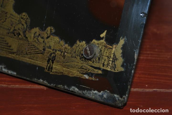 Antigüedades: PRECIOSO ESPEJO MODERNISTA DE SOBREMESA - MONUMENTO A COLÓN BARCELONA - EXPOSICIÓN UNIVERSAL 1888 - Foto 11 - 151080882