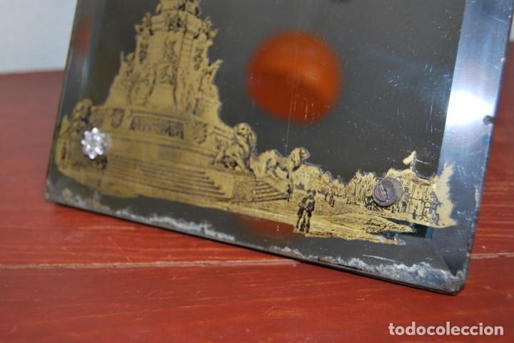 Antigüedades: PRECIOSO ESPEJO MODERNISTA DE SOBREMESA - MONUMENTO A COLÓN BARCELONA - EXPOSICIÓN UNIVERSAL 1888 - Foto 14 - 151080882