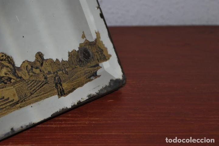 Antigüedades: PRECIOSO ESPEJO MODERNISTA DE SOBREMESA - MONUMENTO A COLÓN BARCELONA - EXPOSICIÓN UNIVERSAL 1888 - Foto 20 - 151080882