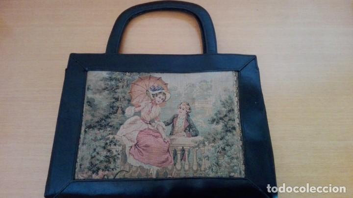 Antigüedades: Bolso de Tapicería y cuero años 20-30 - Foto 2 - 151081282