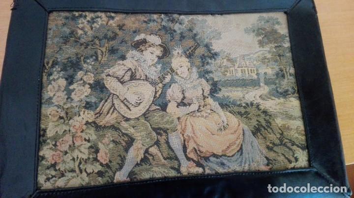 Antigüedades: Bolso de Tapicería y cuero años 20-30 - Foto 3 - 151081282