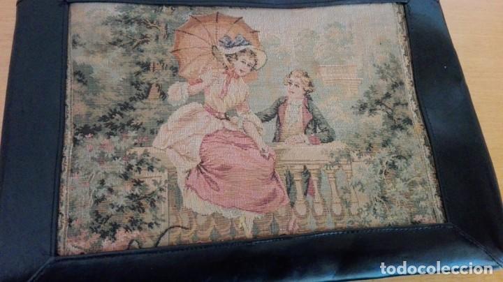 Antigüedades: Bolso de Tapicería y cuero años 20-30 - Foto 4 - 151081282