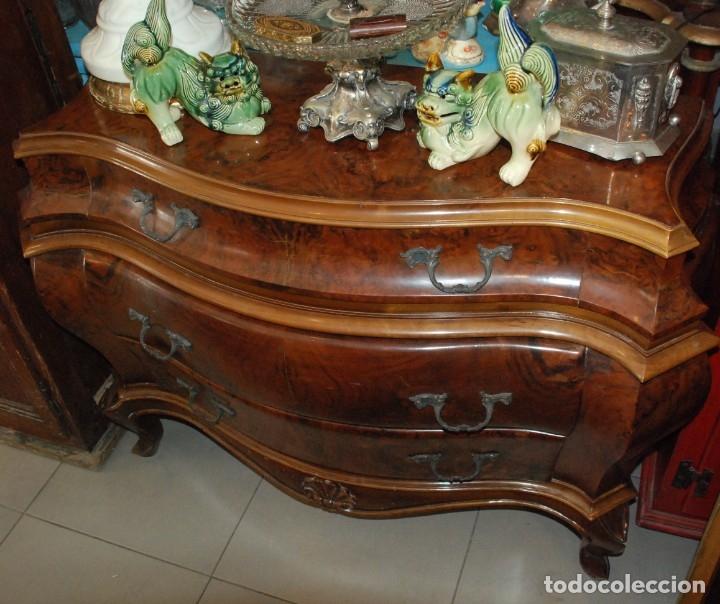 Antigüedades: MUY BONITA CÓMODA DE MADERA DE RAÍZ - Foto 3 - 151086798