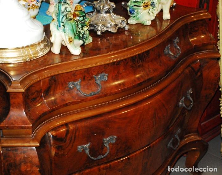Antigüedades: MUY BONITA CÓMODA DE MADERA DE RAÍZ - Foto 6 - 151086798