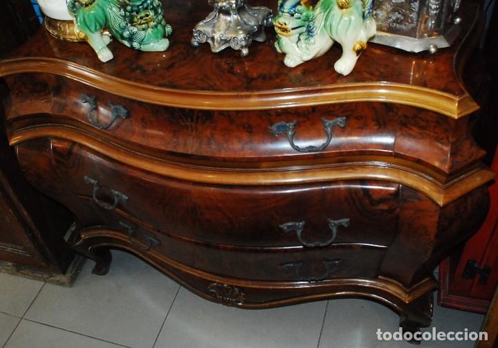 Antigüedades: MUY BONITA CÓMODA DE MADERA DE RAÍZ - Foto 5 - 151086798