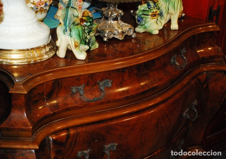 Antigüedades: MUY BONITA CÓMODA DE MADERA DE RAÍZ - Foto 7 - 151086798