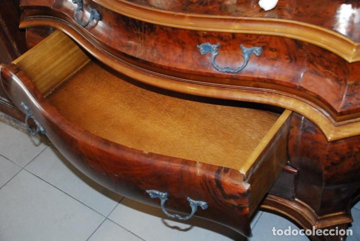 Antigüedades: MUY BONITA CÓMODA DE MADERA DE RAÍZ - Foto 9 - 151086798