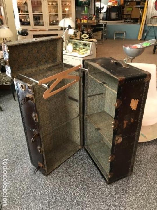 Antigüedades: Baúl de viaje antiguo vintage - Foto 2 - 151075314