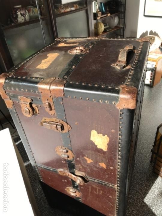 Antigüedades: Baúl de viaje antiguo vintage - Foto 4 - 151075314