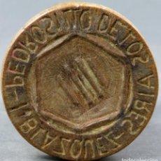 Antigüedades: SELLO DE PAN EN MADERA ARTE PASTORIL PEDRO SILO DE LOS AIRES BLAZQUEZ SIGLO XIX. Lote 151092286