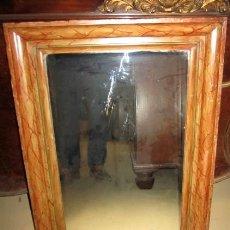Antigüedades: ESPEJO ANTIGUO MARMOLIZADO . Lote 151094818