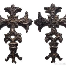 Antigüedades: CRUZ RELIGIOSA DE PLATA, SIGLOS XVI-XVII, 80X65 MM.. Lote 151115338