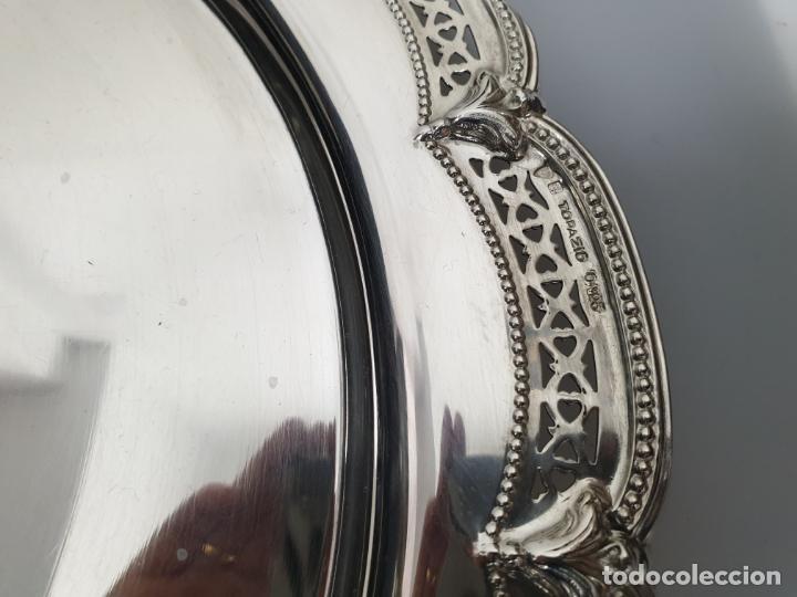 Antigüedades: BANDEJA EN PLATA LEY MARCADO CON CONTRASTE - Foto 4 - 151124462
